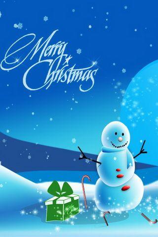 Snowman Picture iPhone Wallpaper