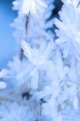 Snow Cristal Image Background For iPhone