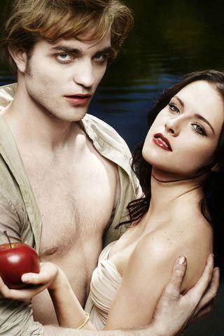 Robert Pattinson and Kristen Stewart iPhone Wallpaper