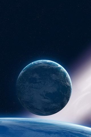 iPhone Background Blue Space High Definition Wallpaper