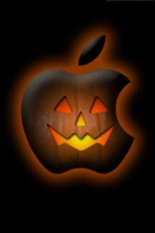 Halloween Pumpkin Apple Background For iPhone