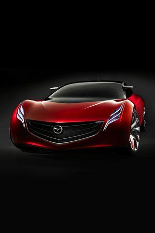 Mazda Ryuga Concept Car iPhone Wallpaper