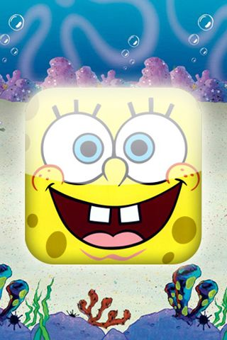 SpongeBob Cartoon Background For iPhone