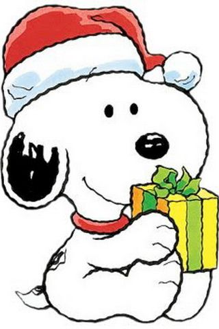 iPhone Background Cute Baby Snoopy Christmas Wallpaper