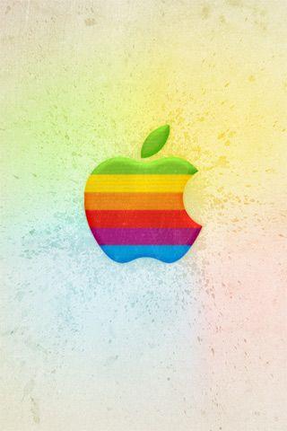Colorful Apple Logo iPhone Wallpaper