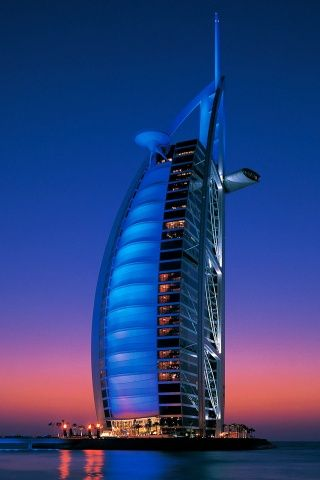 Burj Al Arab Hotel Picture iPhone Wallpaper