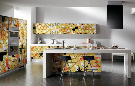 Pattern Style on Kitchen Design by Karim Rashid