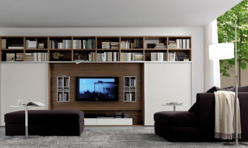 Dynamic and Modern Living Room Wall Units Design