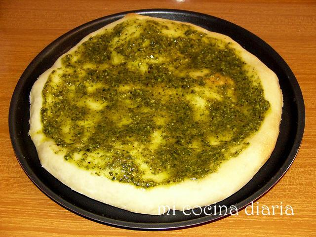 Focaccia con Pesto (Фокачча с соусом Песто)