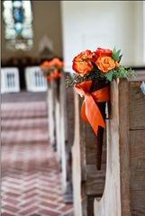 Wedding Cone Pew Marker