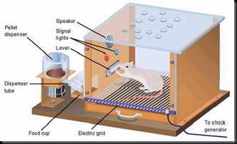 """""""Skinner Box"""" – or an """"operant conditioning chamber"""" as it's called by scientists – is a laboratory apparatus used in experiments to study animal behavior."""