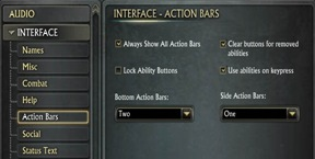 RIFT Planes of Telara interface tips: How to add more action bars in RIFT? How to choose vertical or horizontal action bars placement in RIFT?