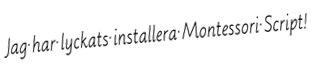 montessori script