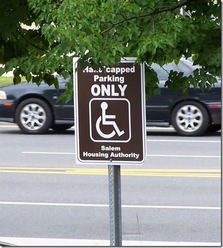 Morency Manor Parking sign