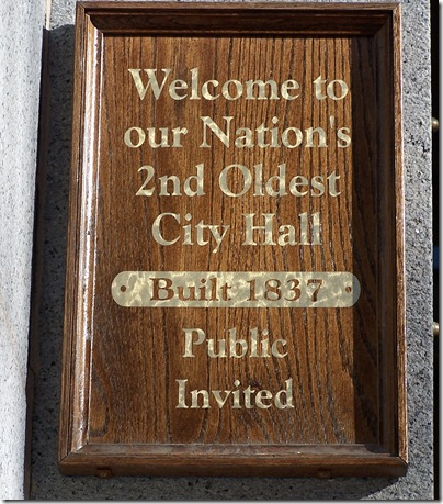 Salem City Hall plaque