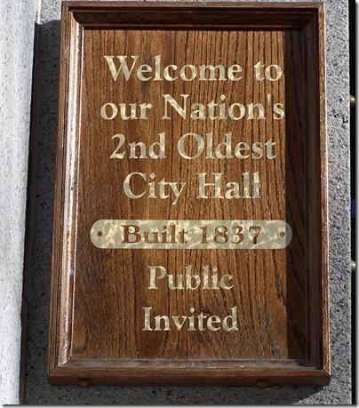 Salem City Hall plaque
