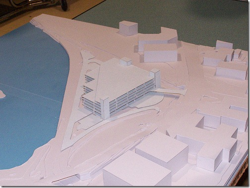 Model of proposed Salem Depot garage