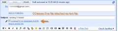 exe file attached in Gmail as text file