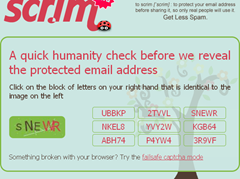 humanity check to know email address