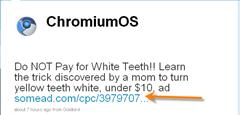 Chromiumos twitter account spam
