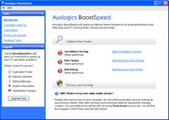 Auslogics BoostSpeed UI