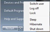 Replace Shutdown Button On Win 7 Start Menu With Restart Button