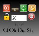 desktop timer gadget with options