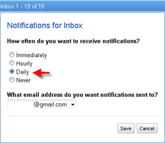 wave notifications for inbox