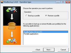 Restore Firefox Profile