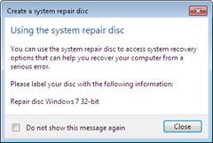 win7 repair disk