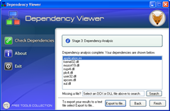 Depency viewer Screenshot for Firefox