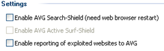 disabling AVG Search -Shield