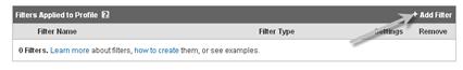 add filter in analytics