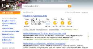 Weather forecast_in _bing