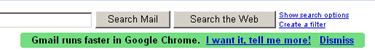 Gmail runs faster in Google Chrome