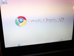 Google Chrome OS in closer view