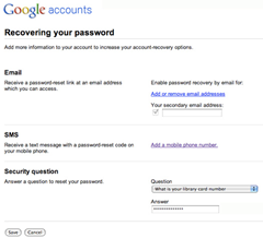 Recover Your Gmail Password through SMS