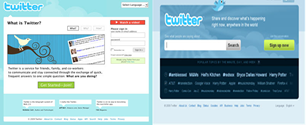 comparision between old and new look of twitter home page