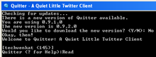 Quitter :Tweet From a DOS Window
