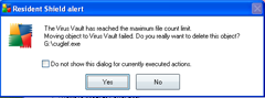  How to Fix The Virus Vault has reached the maximum file count limit