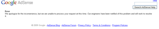 Google adsense error
