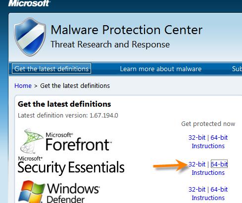 Windows7:無料ウィルスソフト「Microsoft …
