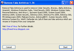 Remove Fake Antivirus 1.36