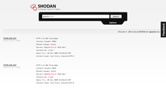 SHODAN search results