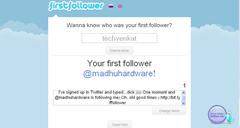firstfollower tells who ur first follower