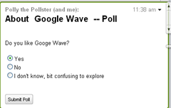 Poll in Google Wave