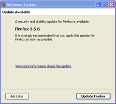 Firefox 3.5.6 security update