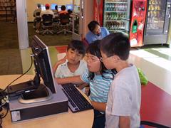 kids using computer
