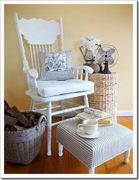 Chair White Toile