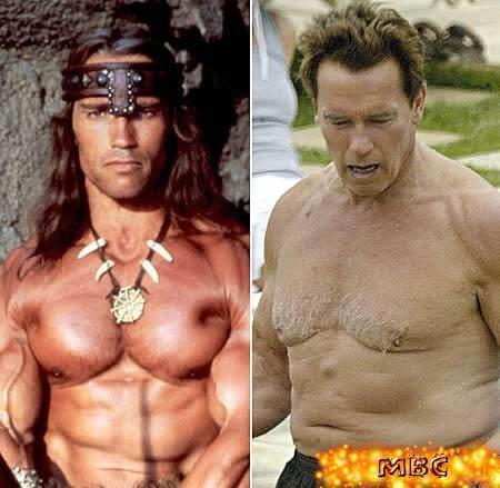Schwarzenegger antes e depois...